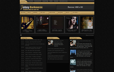 Johny Darkmusic Blogger Template
