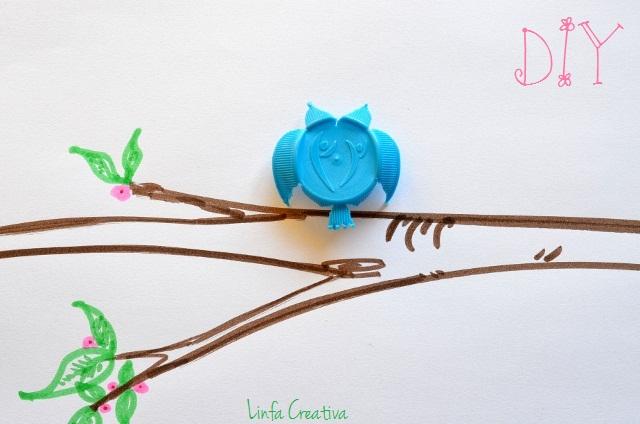 http://linfacreativa.blogspot.it/2013/02/diy-con-tappi-di-bottiglia-gufo-azzurro.html