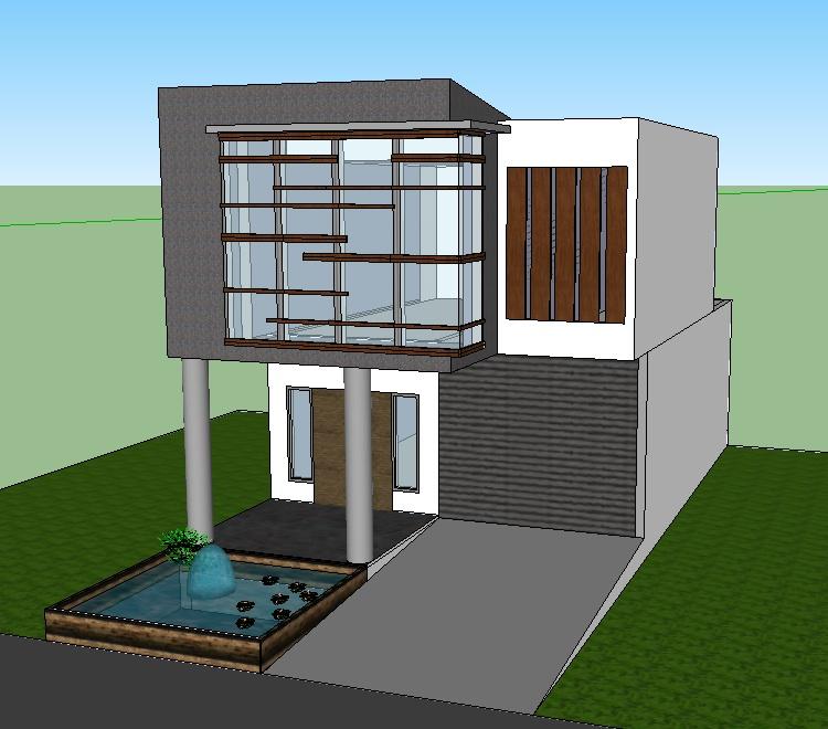 Gambar Rumah Modern Minimalis 6 x 15 m2 Siap Pakai