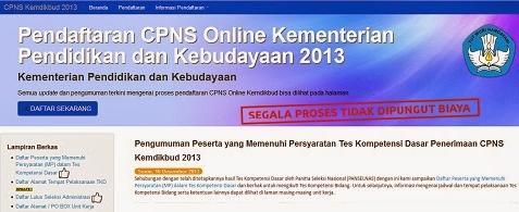 Pengumuman Hasil Tes CPNS Kemendikbud 2013 cpns.kemdikbud.go.id