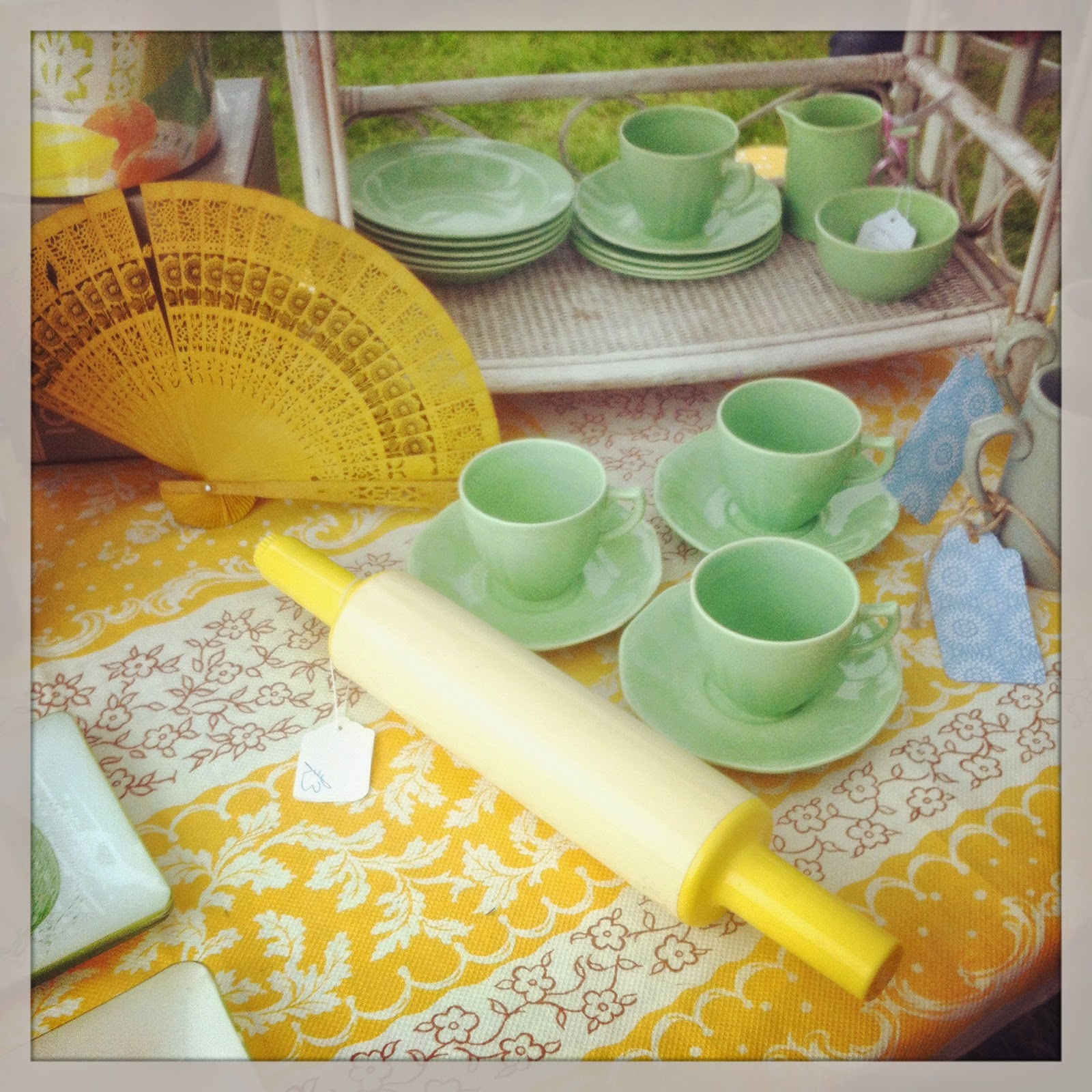 Yellow and Green vintage kitchenalia