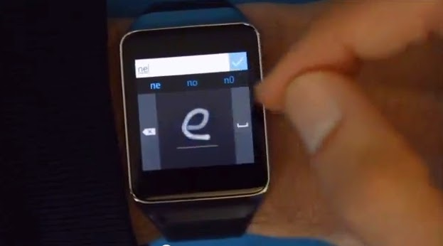 Microsoft, connected watches, keyboard for connected watches, virtual keyboard, Microsoft virtual keyboard, Microsoft keyboard, connected objects, mobile, Android Wear,