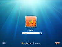 Windows seven login screen