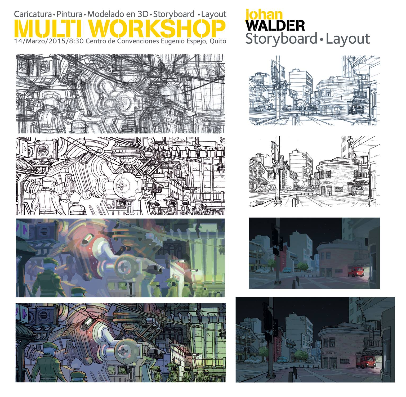 Hi everyone ! I will be giving a masterclass workshop on layout and storyboard