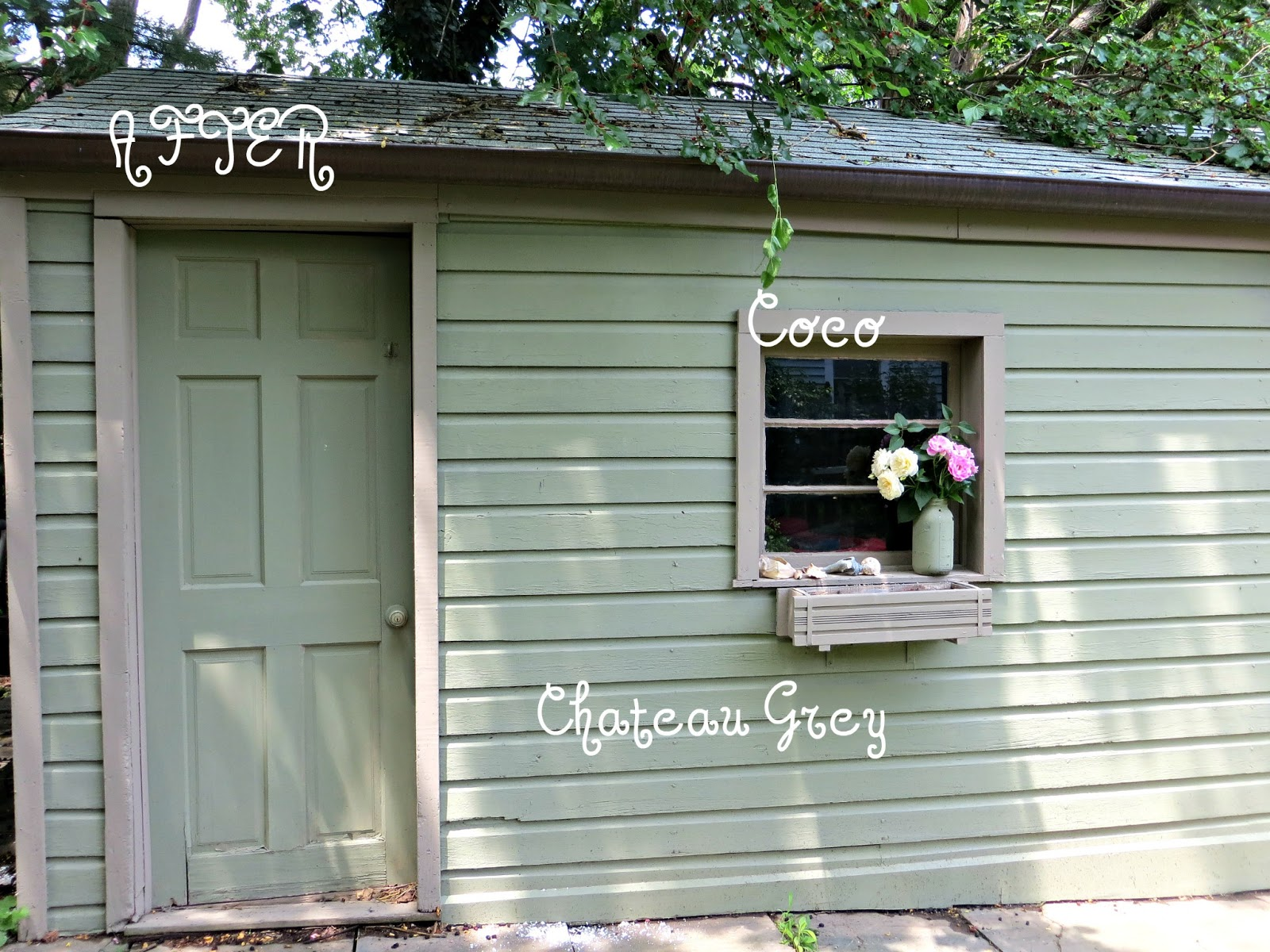 Annie Sloan Chalk Painted Shed {You can DIY}