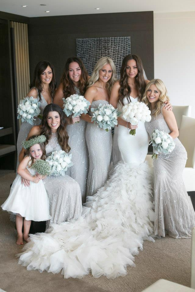 Light gray bridesmaid dresses weddingsabeautiful for Gray dresses for a wedding
