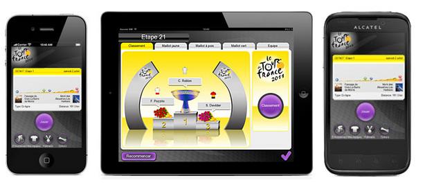jeu mobile officiel du Tour de France 2012