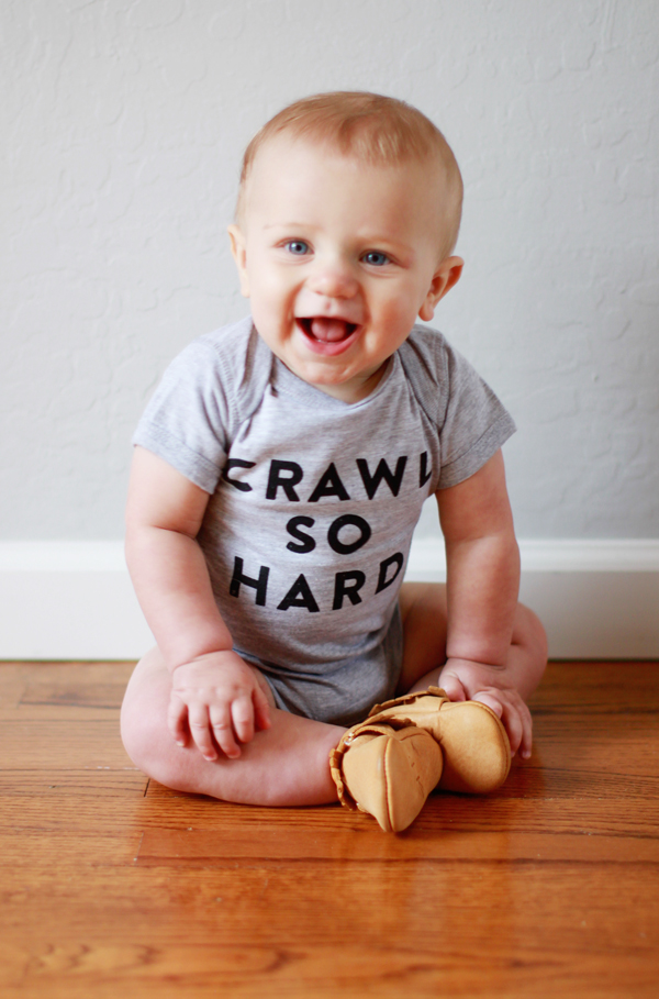 Crawl So Hard onesie by The Wittle Co. handmade in LA