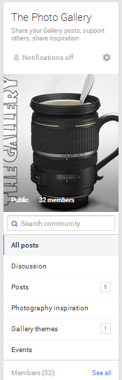 Google Plus community threads