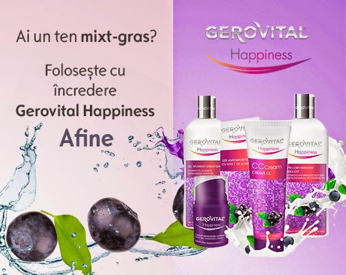 Gerovital Happiness de Zmeura - Ten mixt/gras