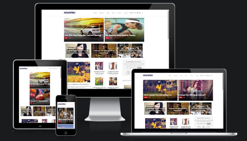 Newsmag template Blogger Gratis