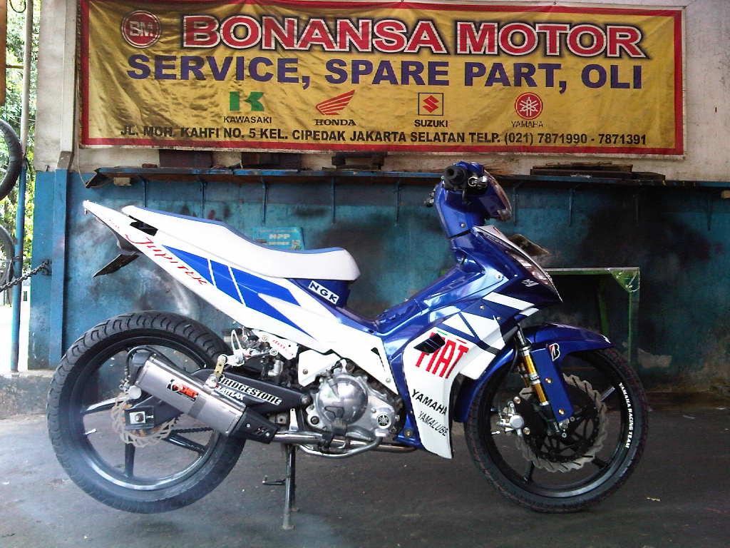 Modif Yamaha Byson Biru Modifikasi Motor Yamaha 2016  2017  2018