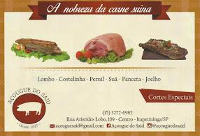 AÇOUGUE DO SAID A Nobreza da Carne Suína Lombo, Costelinha, Pernil, Suã, Panceta, Joelho