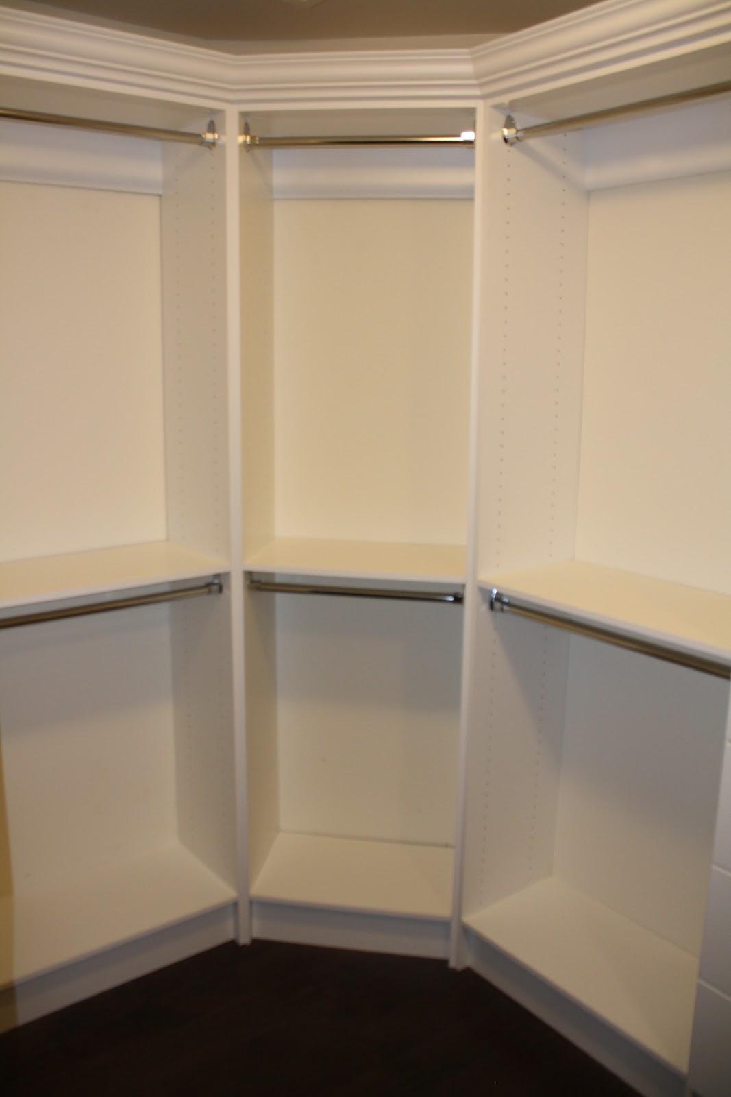 Corner Closet Design Ideas Image