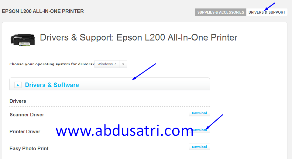 cara install printer online