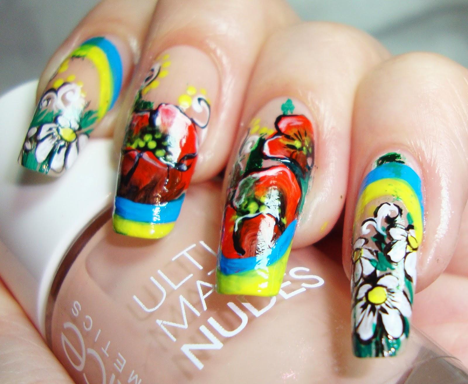 Дизайн ногтей роспись вручную