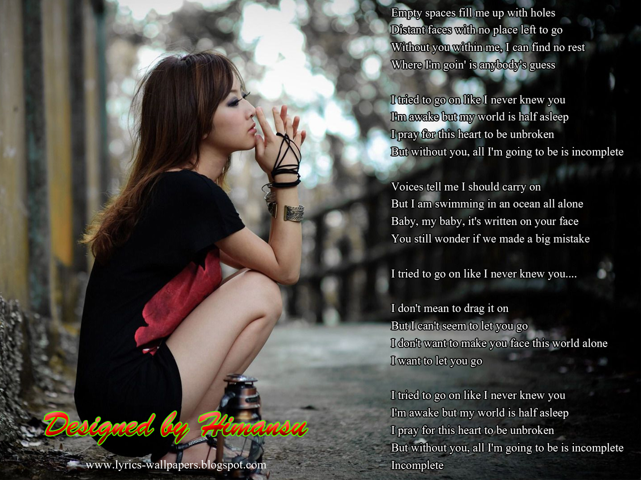 Lyrics Wallpapers - Back Street Boys- Incomplete