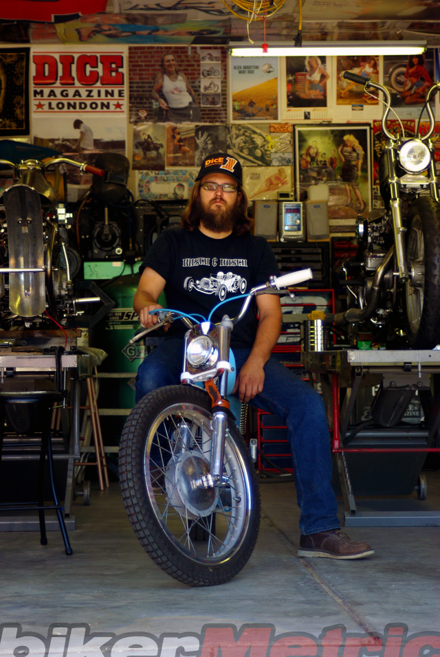 busch bro on his custom bultaco thumper