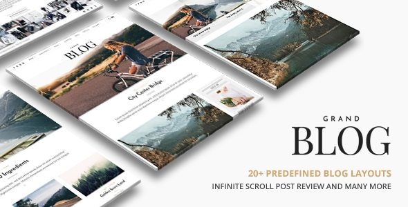 download Grand Blog | Responsive WordPress Blog Theme