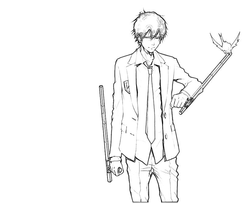 printable-kyoya-hibari-weapon-coloring-pages