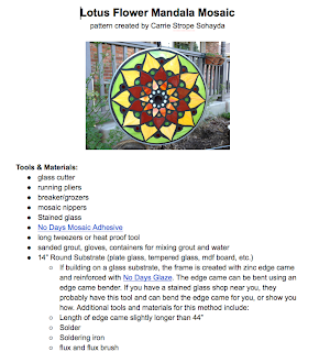 6 page instruction booklet that comes with pattern, full of links, sources & resources