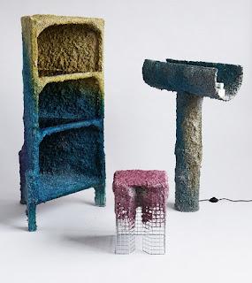 Muebles con Papel Mache Reciclado