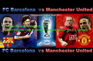 Nobar Sepakbola Barca VS MU