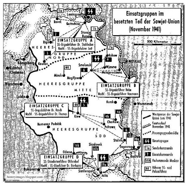 Einsatzgruppen activity USSR November 1941 Nazi exterminators