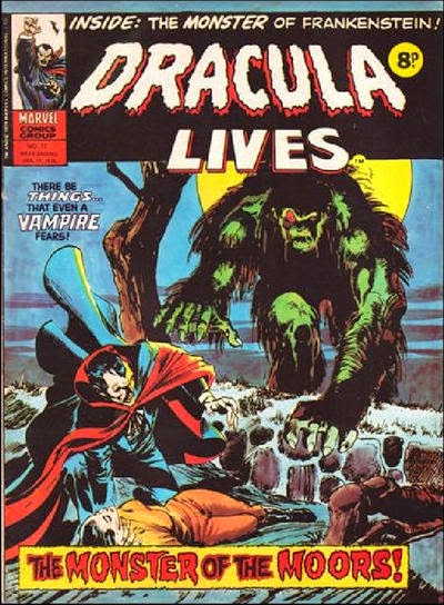 Marvel UK Dracula Lives #12, Neal Adams cover