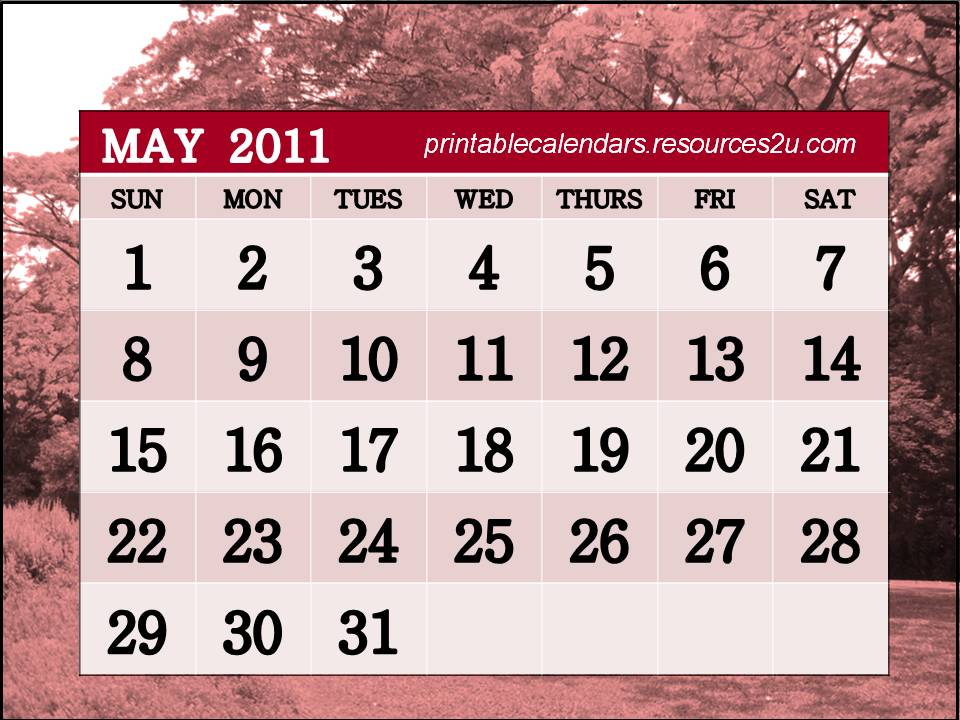 printable calendars for april 2011. Printable Calendars 2011