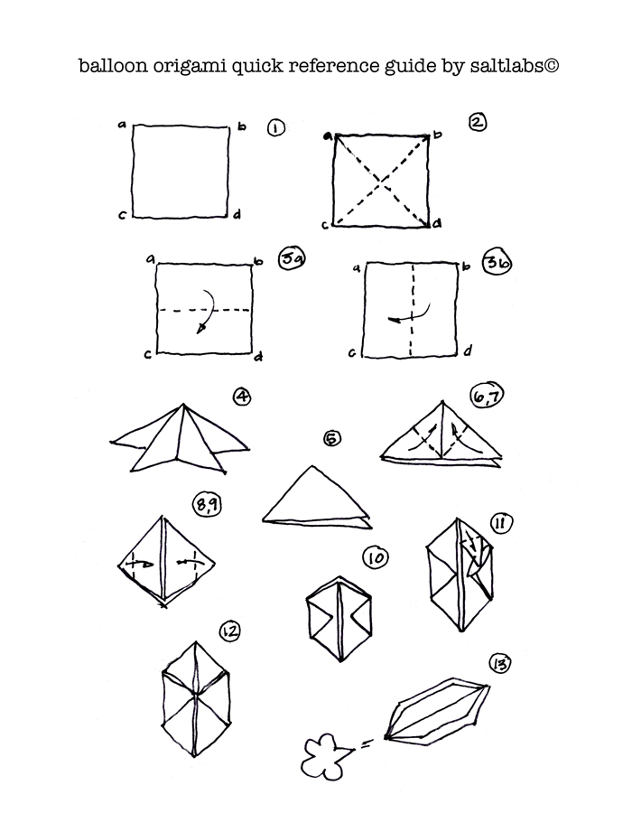 Follow The Simple Instructions Of Balloon Origami Quick Guide Below And Download PDF HERE For Future Reference