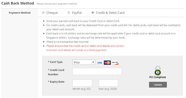 eBates.sg Credit Card