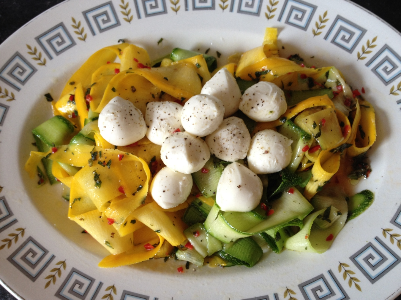 Chef mels kitchen recipe jamie olivers courgette and boccocini salad this is a lovely little salad recipe that nick made me last week after wed both seen jamie oliver make it on his 30 minute meals program forumfinder Gallery