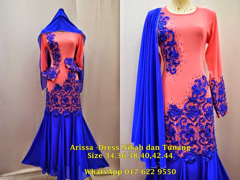 Color Block Dress Manik Tunang dan Nikah 2015