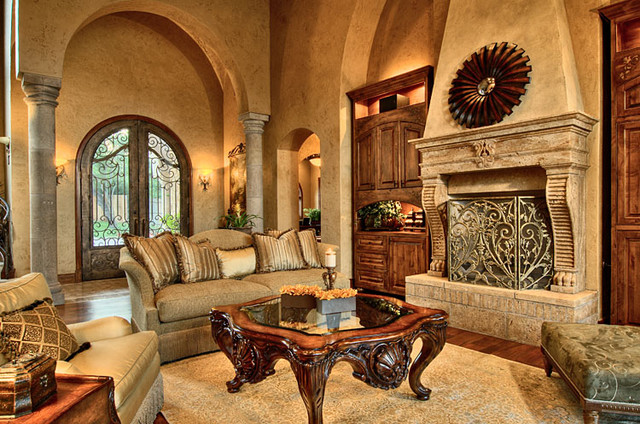 Interior designs part 4 spanish tuscan victorian vintage for Tuscan style homes interior