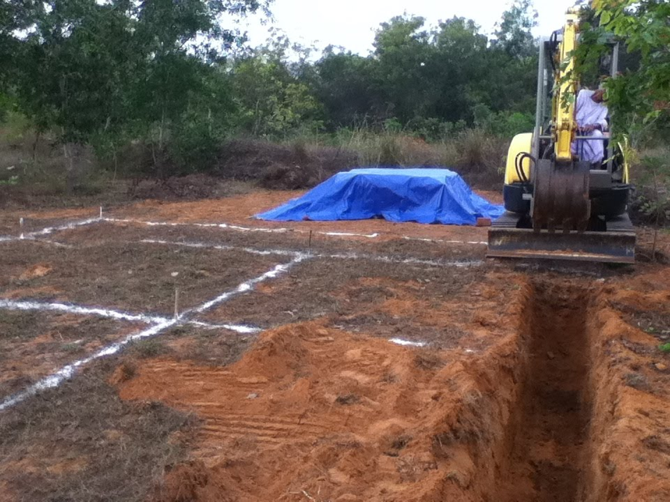Farm yeah building our house part 3b foundation for Digging foundation for house