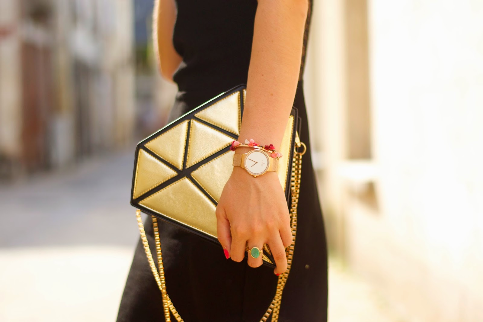 Gold diamond bag