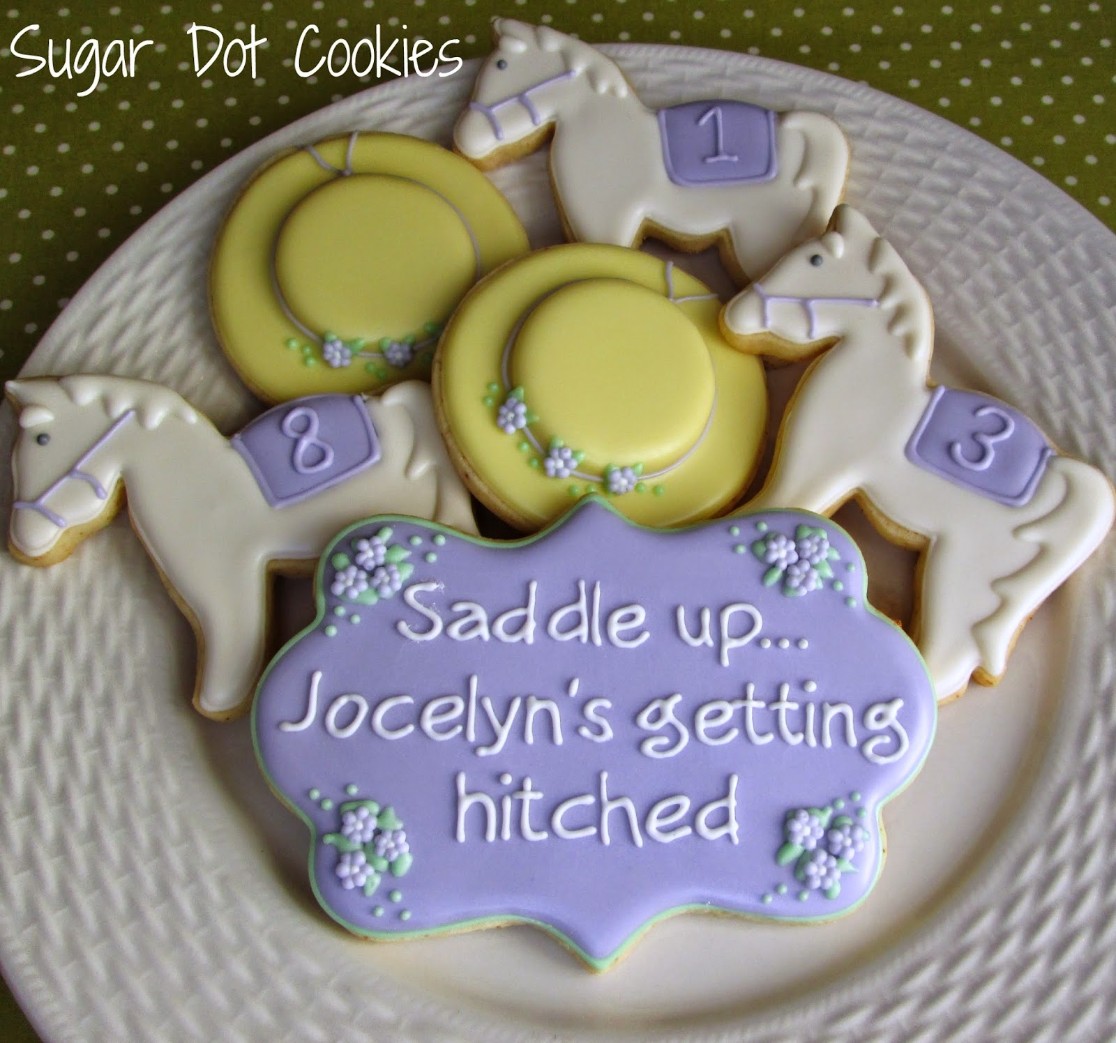 kentucky derby bridal shower cookies