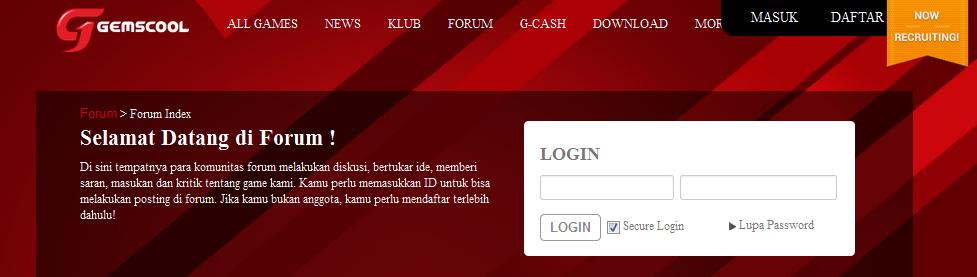 Forum Gemscool - Game Portal Pertama Di Indonesia