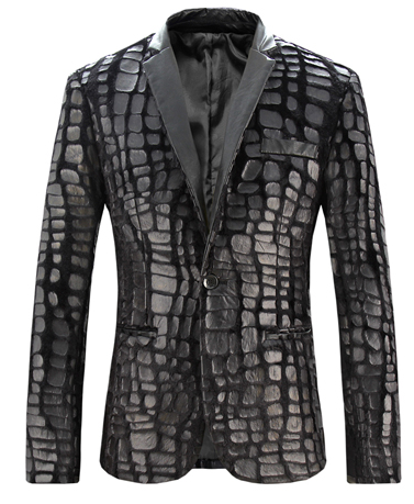 Creative Mens Luxury Fur Plaid Pattern Blazer At PerfectMensBlazers.Com