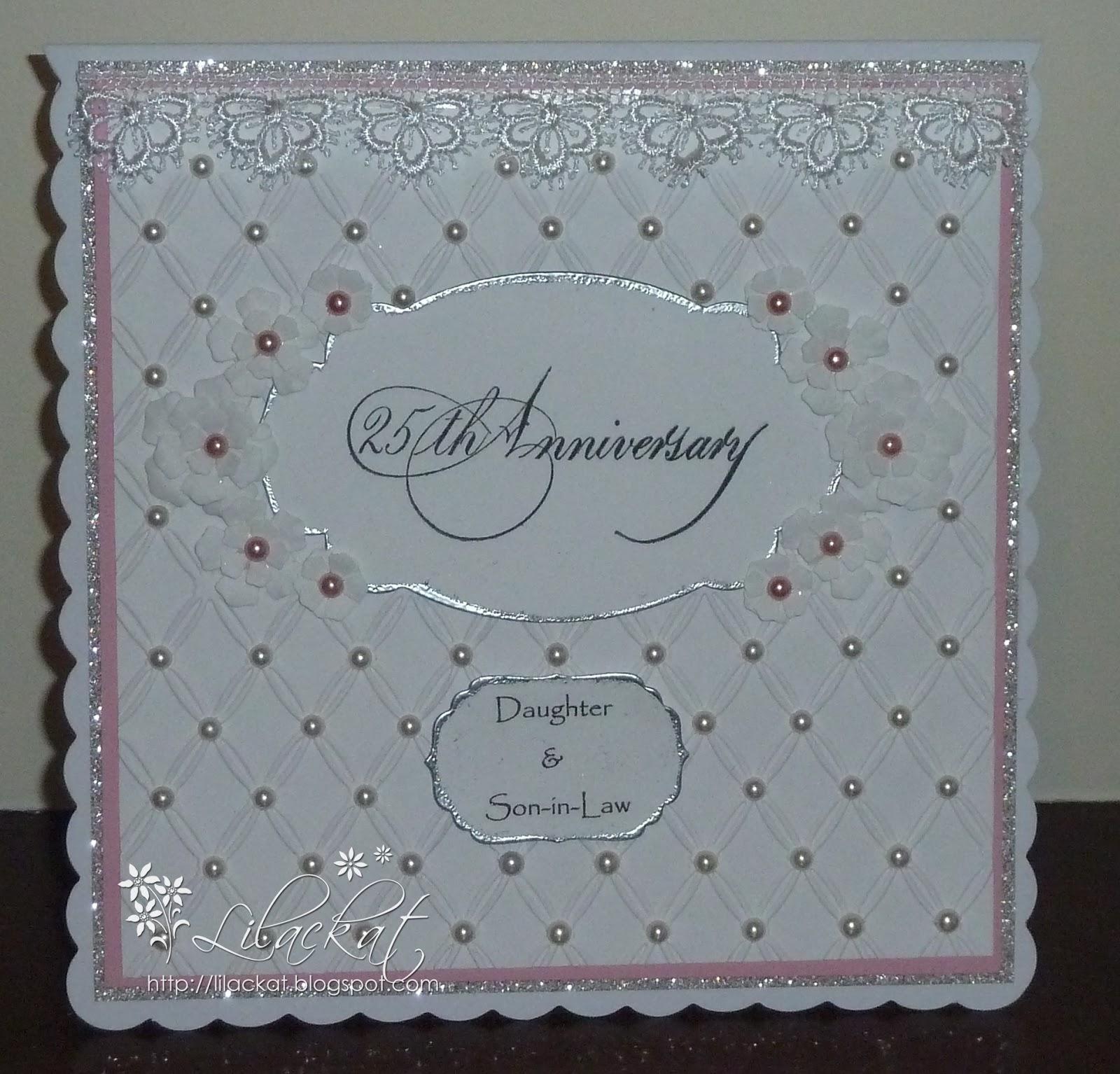 Lilackat Special Silver Wedding Anniversary Card