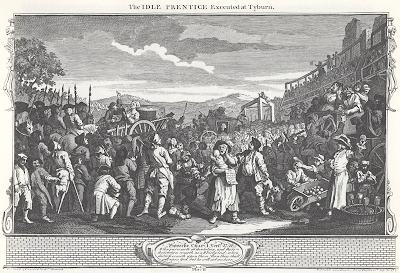 Industry and Idleness, Plate 11; The Idle 'Prentice Executed at Tyburn by William Hogarth