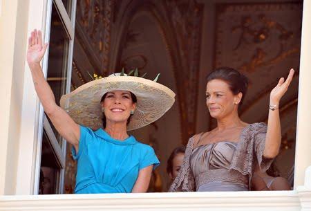Каролин Принцеса на Хановер и Стефани Принцеса на Монако на брака на Албер и Шарлийн