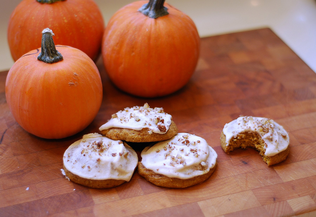 Marzipan: Maple Iced Pumpkin Cookies
