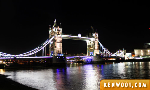 london tower bridge night