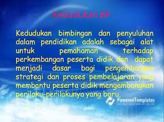 PPT Bimbingan dan Penyuluhan (Kedudukan, Peran, dan Fungsi BP)