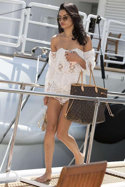 Shanina Shaik parties on a yacht in Monaco
