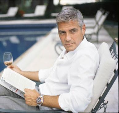 George Clooney leyendo - leer es sexy