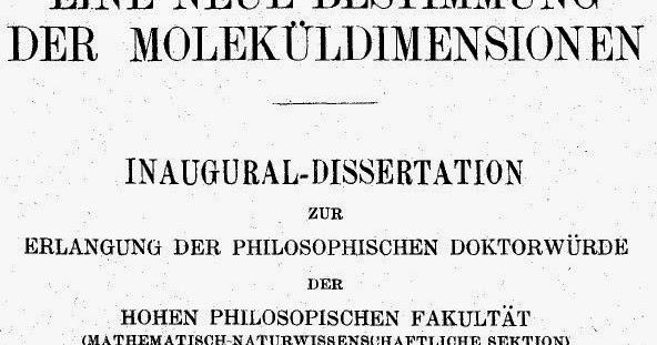 perevod Текст докторской диссертации Альберта Эйнштейна