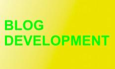 Proses pengembangan blog